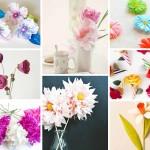 17 Stunning How to Make Paper Flowers Tutorials