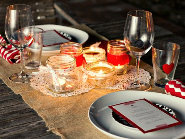 DIY Table Decoration Ideas For Valentines Days