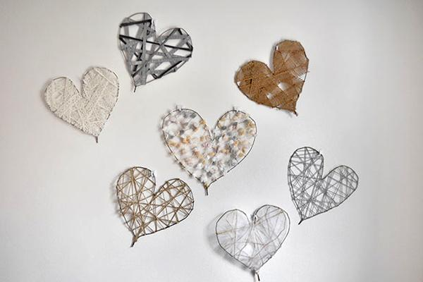 Heart Shaped diy wall decor for valentines days