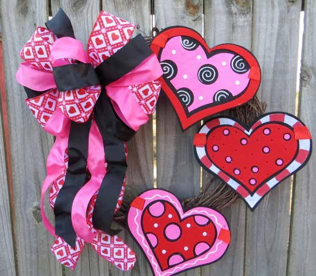 diy wreaths for valentines days