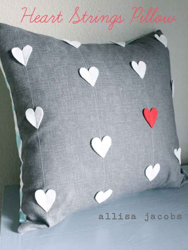 25 romantic diy pillow covers for valentines days Diy Pillow Covers