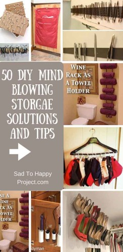 50 Mind Blowing DIY Storage Ideas and Tips