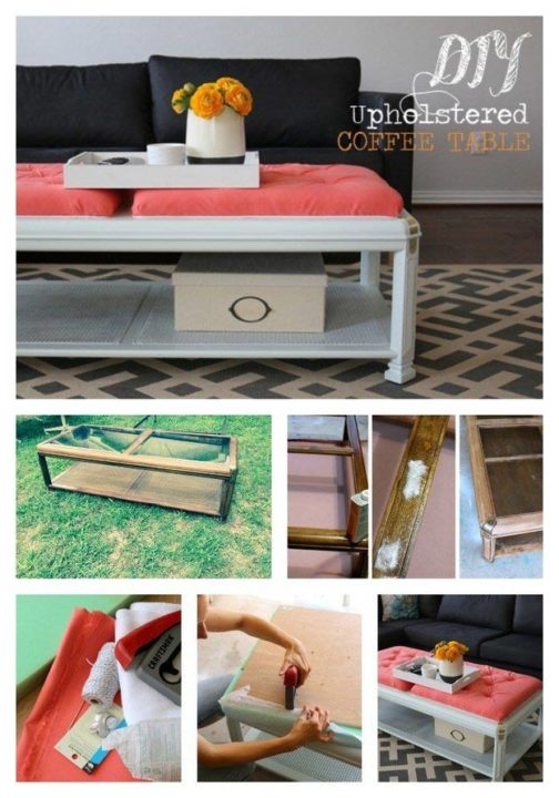 Creative ways to recycle repurposed upcycled old furniture for Revamp coffee table