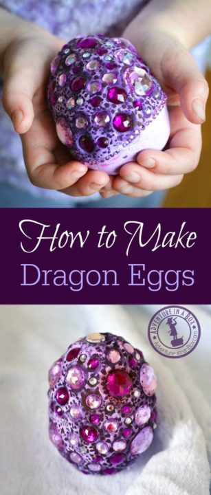 DIY Easter Crafts make dragon eggs