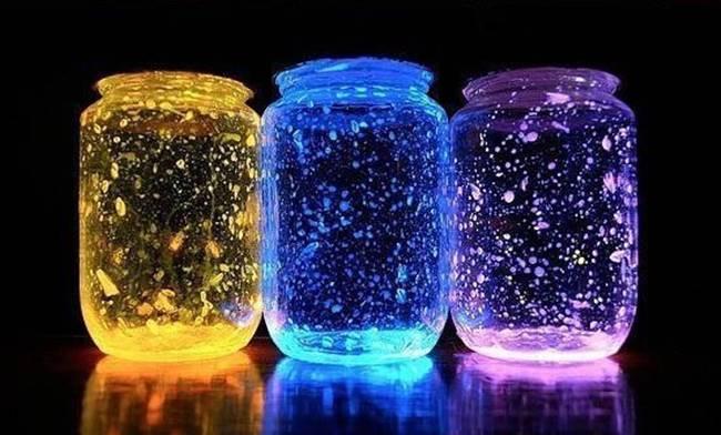 DIY Galaxy Glow Jar fairy crafts for kids