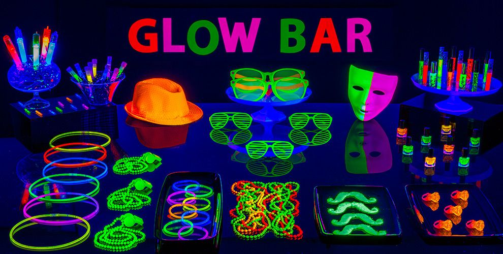crazy diy glow in the dark party decorations ideas you