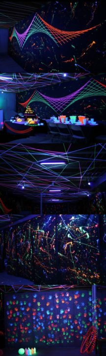 DIY Glow In The Dark Party Decorations Ideas