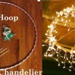 Beautiful DIY Hula Hoop Chandelier