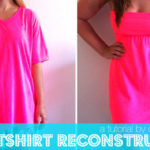 Best DIY T Shirt Dress For Summer : Its So Trendy : Refashion Old T Shirt