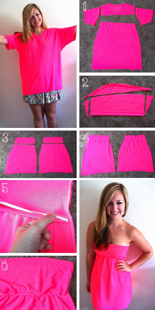 DIY T Shirt Dress fashion