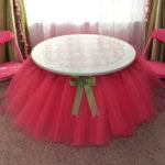 No Sew DIY Tutu Table Skirt : Adorable DIY Room Decor Idea For Your Baby Girl