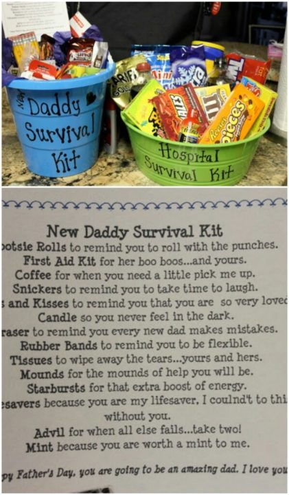 Gift For Baby Shower New Dad Survival Kit New Daddy Father Parent Dad To Be