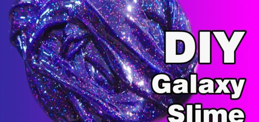 diy borax free galaxy slime for kids