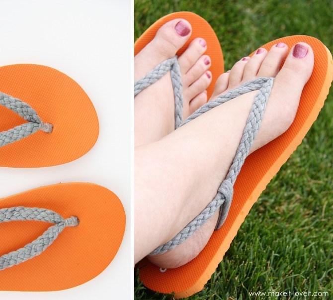 diy flip flops handmade