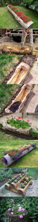 diy planter ideas for garden outdoor