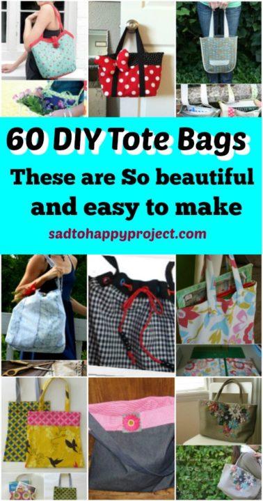 diy tote bags handmade