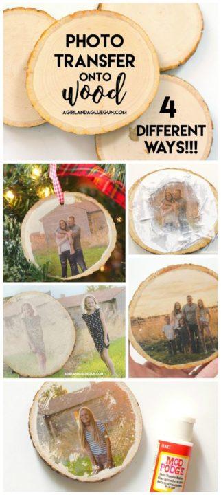 photo transfer to wood DIY room Decor Ideas