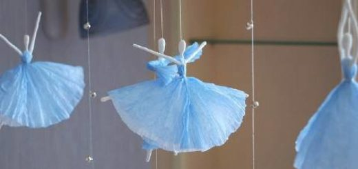 DIY-Napkin-Paper-Ballerina-craft ideas projects