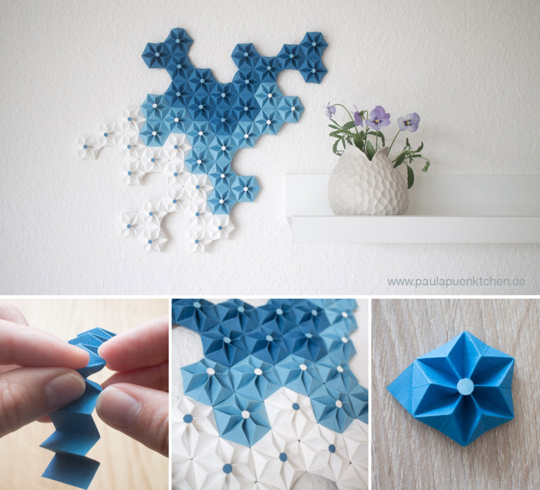 Beautiful DIY Origami Flowers To Decorate Your Wall : Wall Decor Ideas