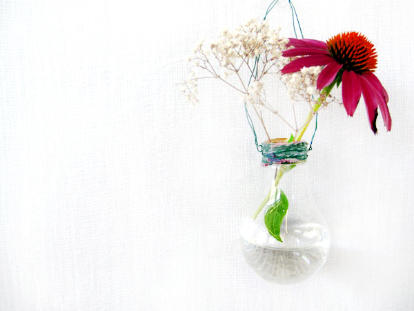 How To Make A Hanging Light Bulb Planter : DIY Home Decor Idea