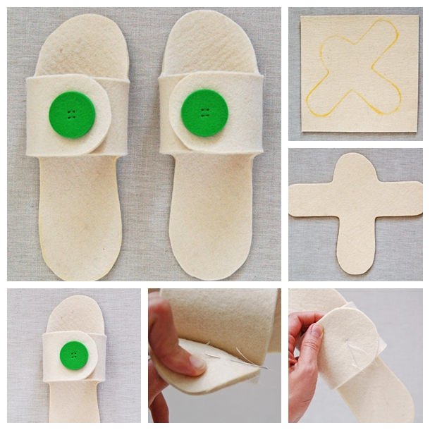 How To Make This Adorable Felt Slippers At Home : Easy Steps
