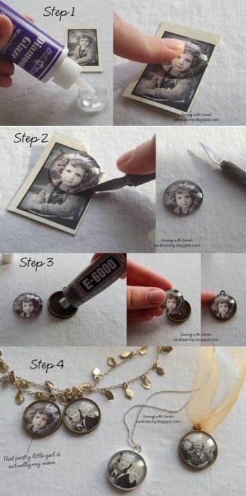 How to Make Photo Pendant diy