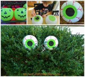 Cheap And Easy DIY Spooky Bush Eyes : Unique Halloween Decorations For Outdoor