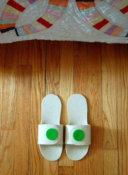diy felt slippers tutorial step by step