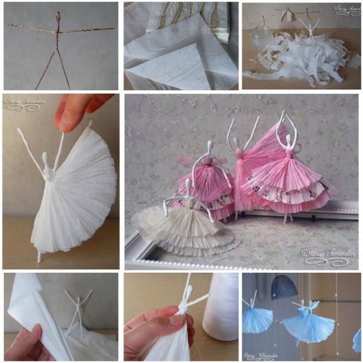 handmade paper craft ideas projects ballerina