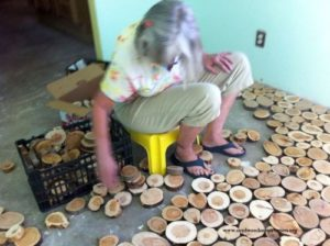 Step By Step Tutorial To Make Your Own Cordwood Floor