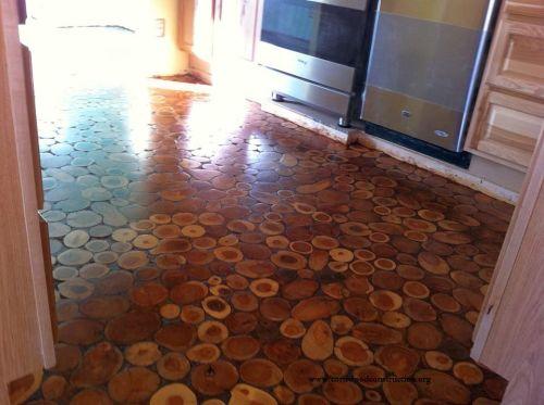how Make Your Own Cordwood Floor diy