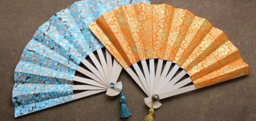 How to Make Japanese Fans diy paper craft ideas