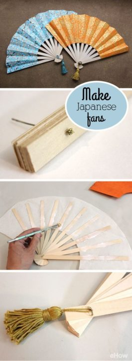 How to Make Japanese Fans diy paper craft