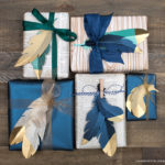 Beautiful Gift Wrapping Idea Using Paper Feathers: DIY Paper Crafts
