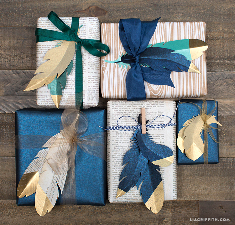 Beautiful Gift Wrapping Idea Using Paper Feathers Diy Paper Crafts