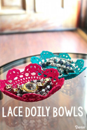 Colorful DIY Lace Doily Bowl Tutorial : DIY Room Decor