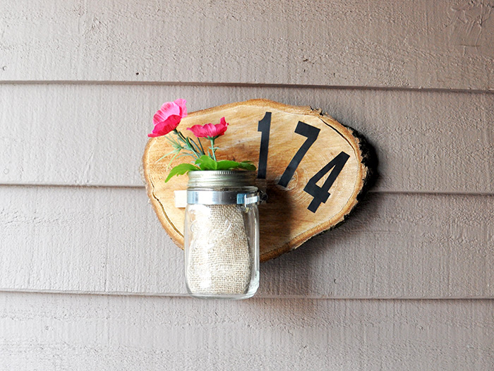 Handmade Beautiful House Number Plaque : DIY Room Decorations