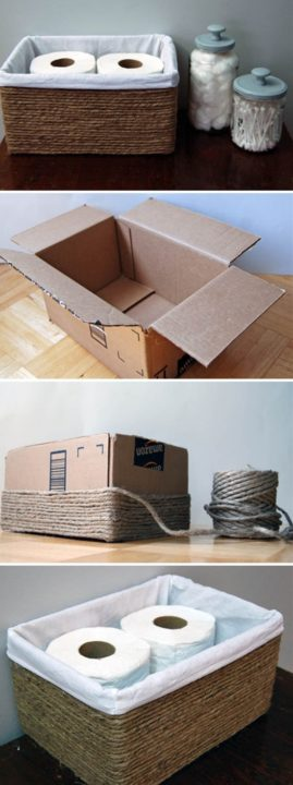 How to reuse old boxes diy recycling ideas for home for How much money does it take to build a house