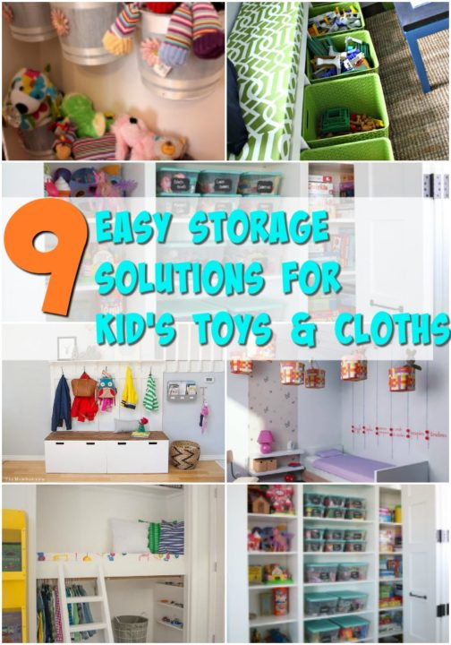 Easy Storage and Organization Solutions ideas for kids