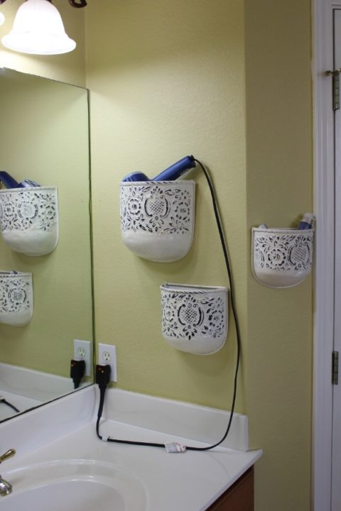 diy bathroom organization storage hacks tips