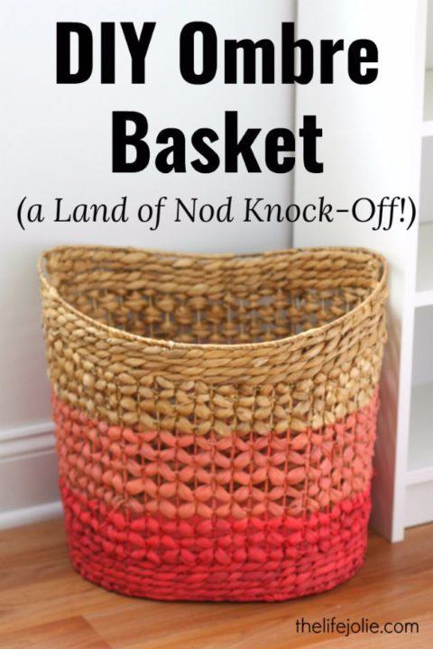 diy-room-decor-easy ombre-basket