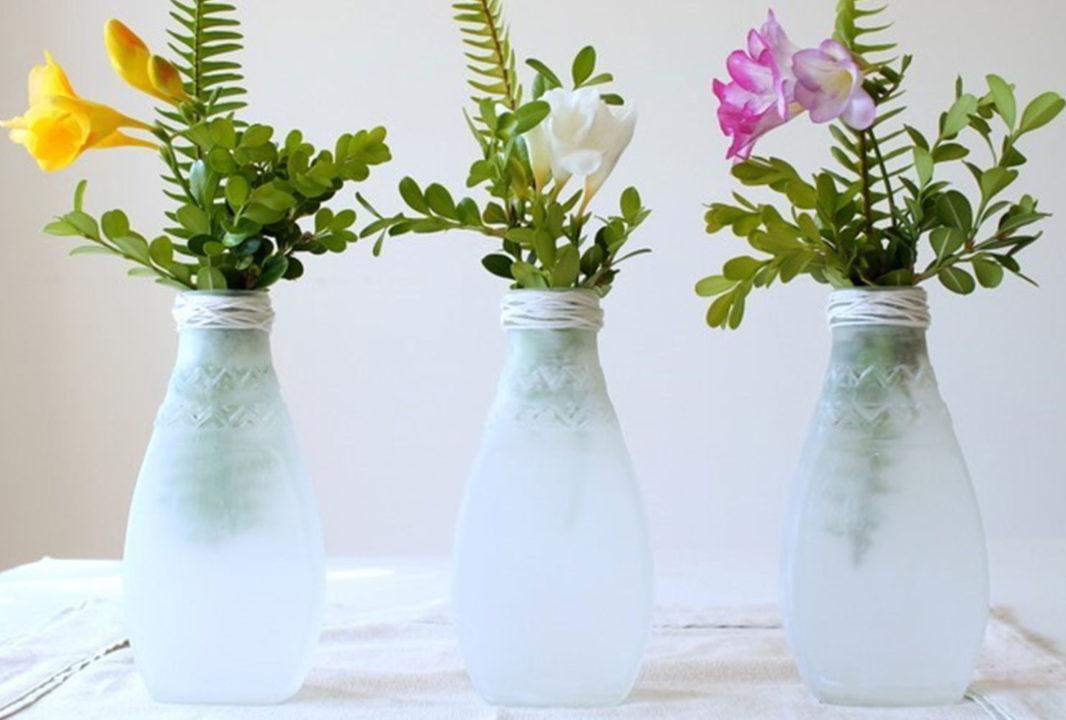 diy-room-decor-easy sea-glass-vases