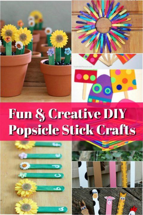 Creative diy Popsicle Stick Crafts
