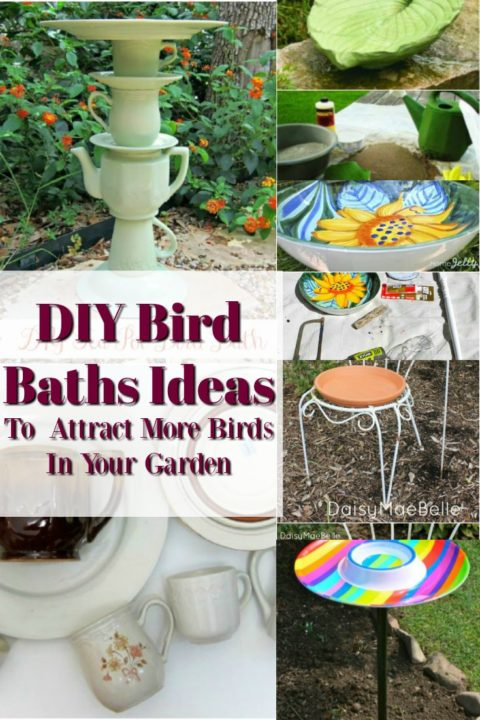DIY Bird Baths ideas projects