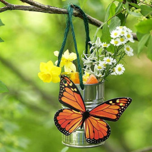 13 DIY Butterfly Feeders To Attract More Butterflies : Garden Decor Ideas