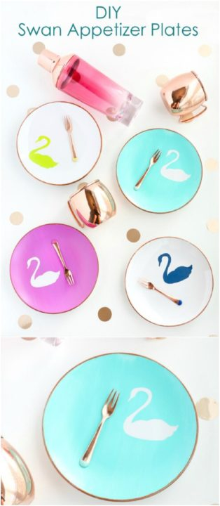 These beautiful swan appetizer plates! This is such a genius idea! Oh my god I wish to make it right now. These DIY decorative plates are gorgeous and are ...  sc 1 st  Sad To Happy Project & 12 Fun and Lovely DIY Decorative Plates Ideas : They Are Super Easy