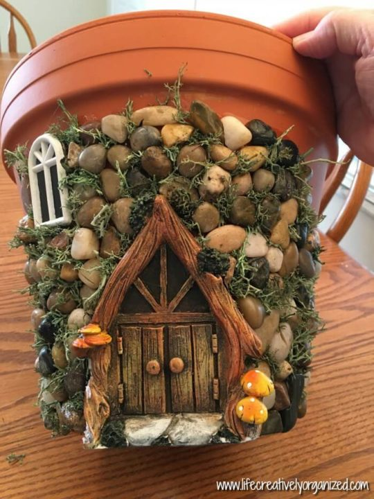 Want To Make Your Own Diy Fairy House Planter Here S How A Sweetly Whimsical One Using Terra Cotta Pot And Other Inexpensive Items