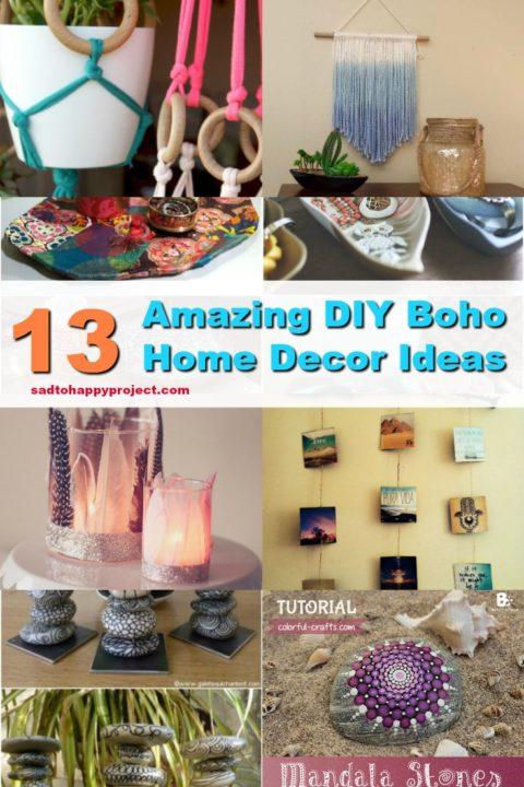 13 Amazing Diy Bohemian Home Decor Ideas Easy Boho Room Style