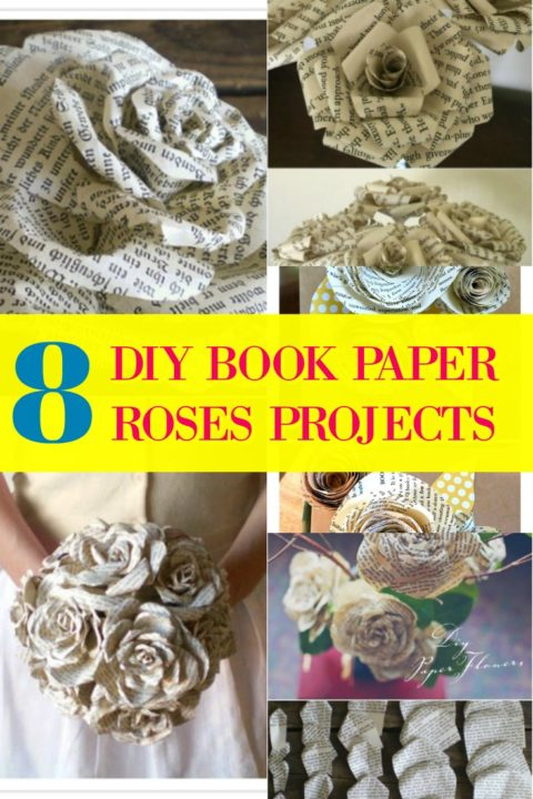 How to make book page flowers 8 diy paper flowers projects sad also save this pin for your future use thank you for visiting our website mightylinksfo