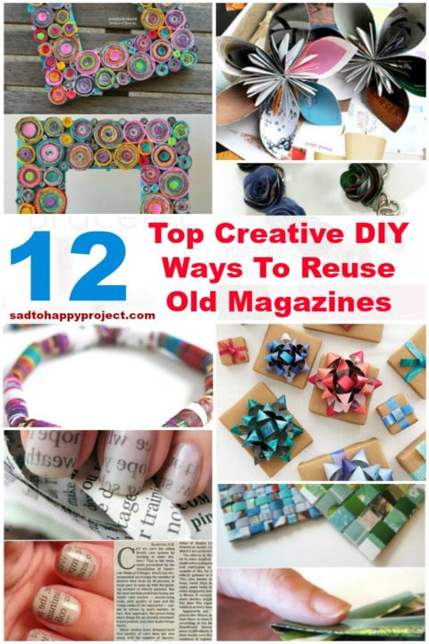 12 Top DIY Crafts To Make Using Old Magazines and Newspapers
